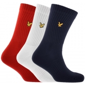 Product Image for Lyle And Scott Hamilton Three Pack Socks Red